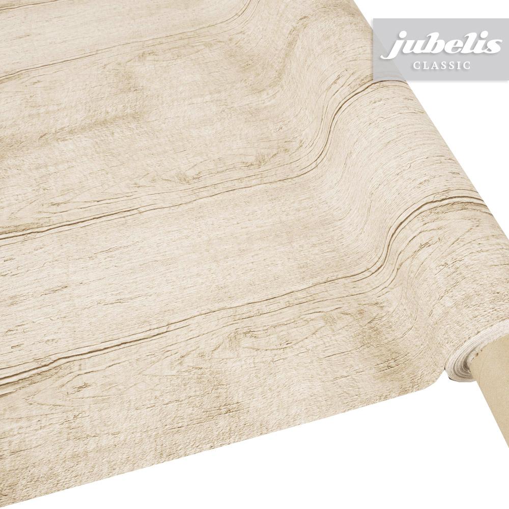 Jubelis® | Wachstuch Holzoptik Braun Ii über Tischdecke Holzoptik