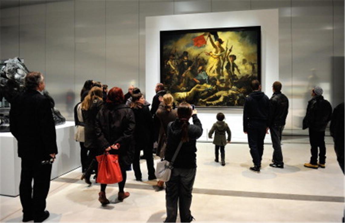 """Junge Frau Beschmiert """"die Freiheit Führt Das Volk An innen Delacroix Die Freiheit Führt Das Volk"""
