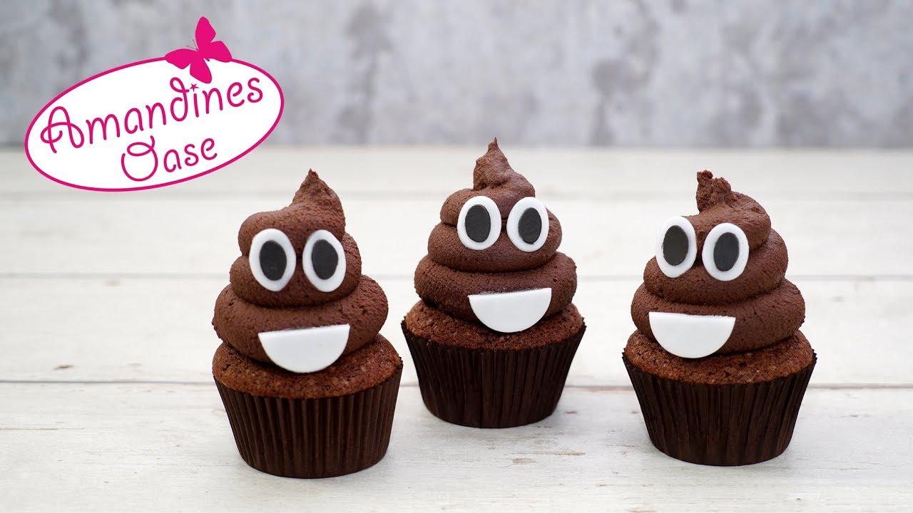 Kackhaufen Cupcakes   Poop Emoji Chocolate Cupcakes   Lecker & Lustig mit Lustige Muffins Für Kindergeburtstag