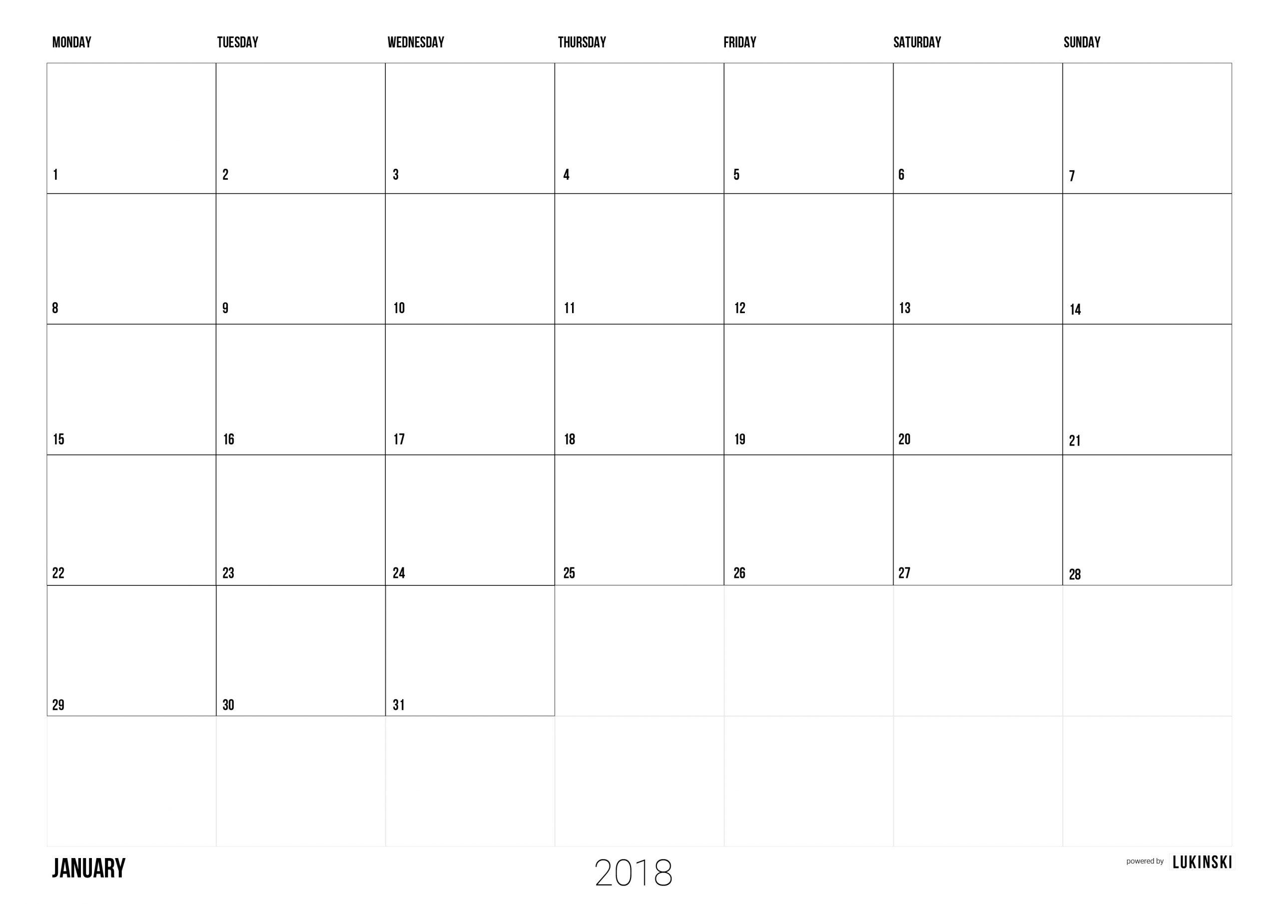Kalender 2018 Ausdrucken: Kostenlose Pdf + Indesign Tutorial über Kostenlose Kalender Zum Ausdrucken