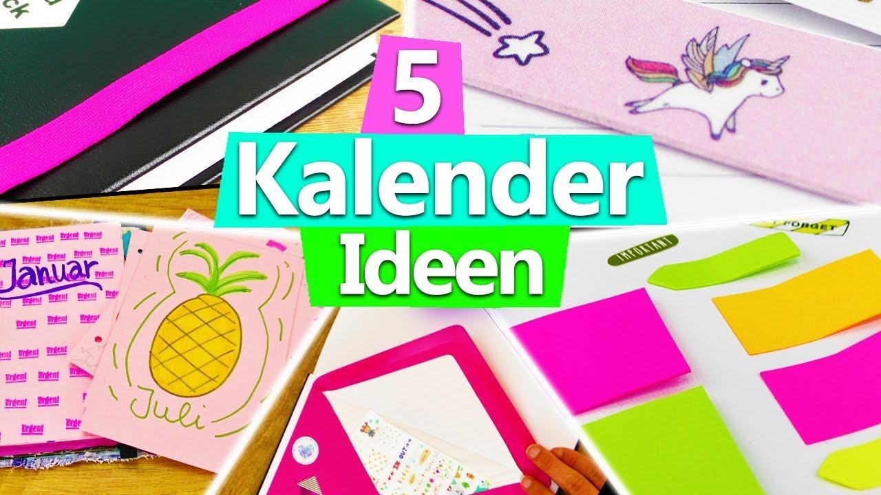 Kalender 2018 Gestalten 5 Ideen Für Diy Planner Setup | Filofax Diy  Inspiration Basteln Deutsch innen Kalender Zum Basteln