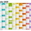 Kalender 2020 Word Zum Ausdrucken: 17 Vorlagen (Kostenlos) mit Vorlage Jahreskalender