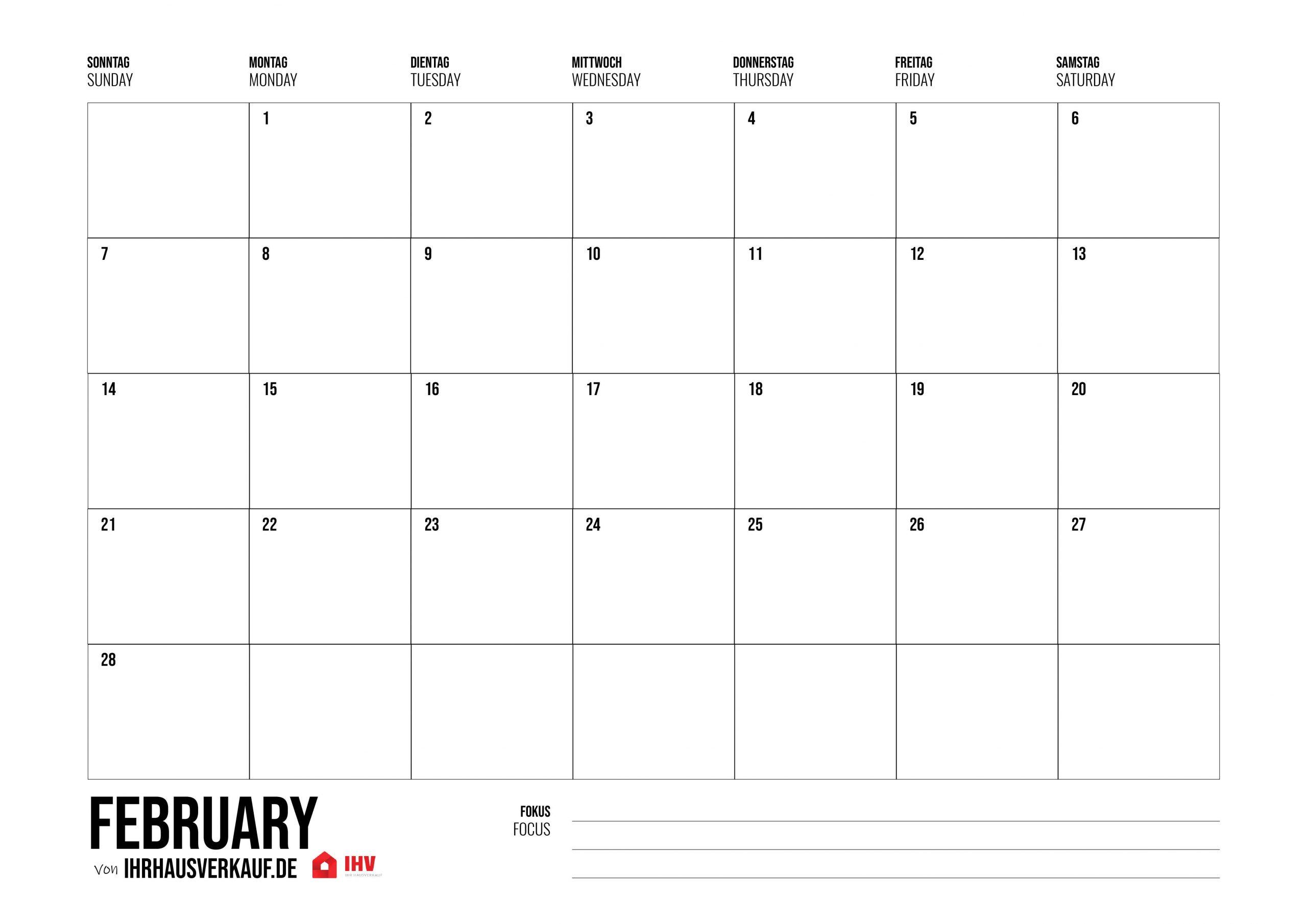 Kalender 2021 Zum Ausdrucken: Alle Monate Und Wochen Als Pdf innen Kostenlose Kalender Zum Ausdrucken