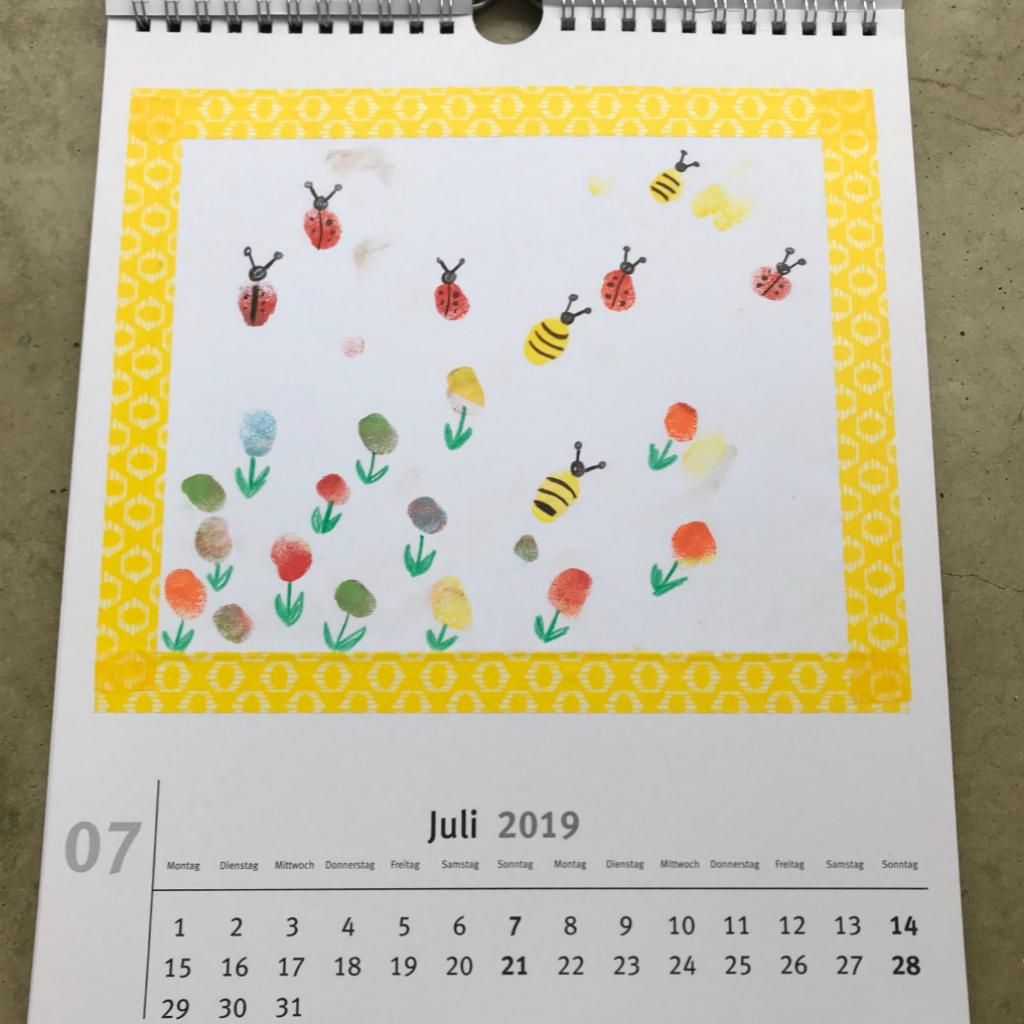 Kalender-Basteln-Mit-Kleinkindern-9 | Schatzenkind.de mit Kalender Zum Basteln