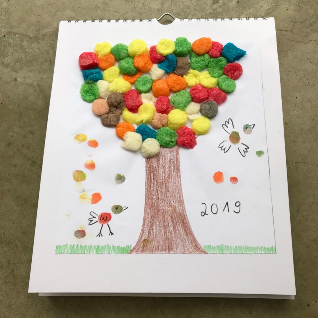Kalender Basteln Mit Kleinkindern | Schatzenkind.de für Kalender Zum Basteln