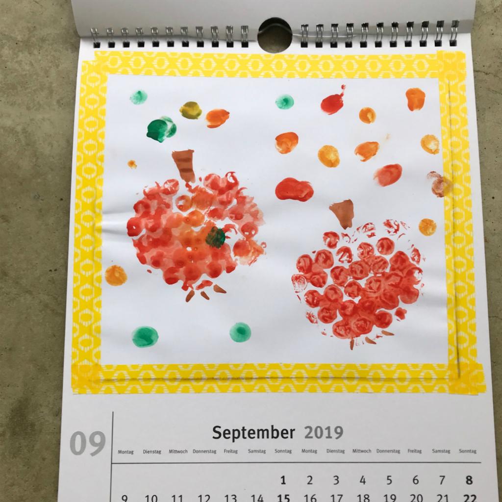 Kalender Basteln Mit Kleinkindern   Schatzenkind.de mit Kalender Basteln Mit Kindern