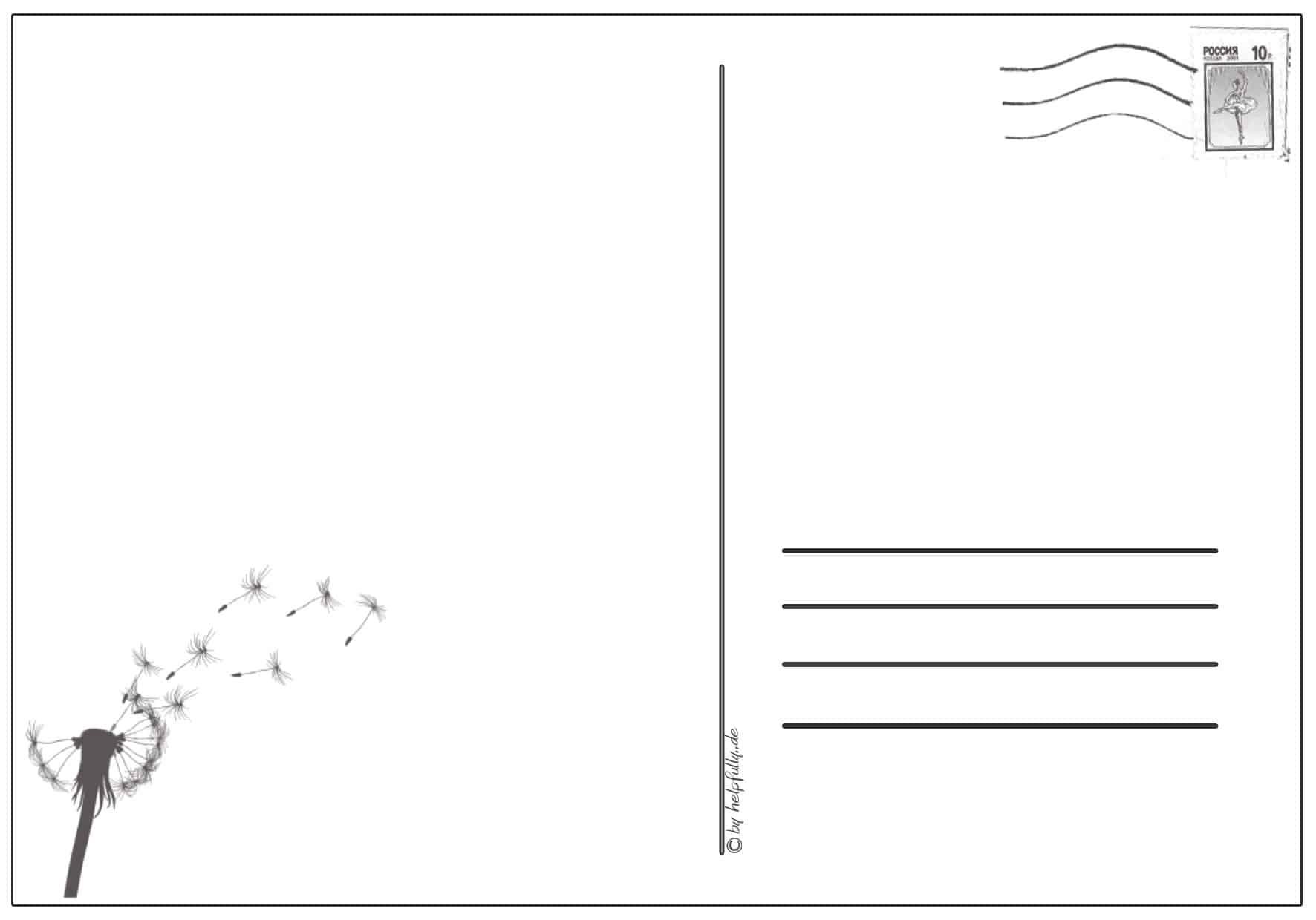 Karten, Postkarten, Einladungen| Gratis Papier-Vorlagen Zum für Postkarten Kostenlos Drucken