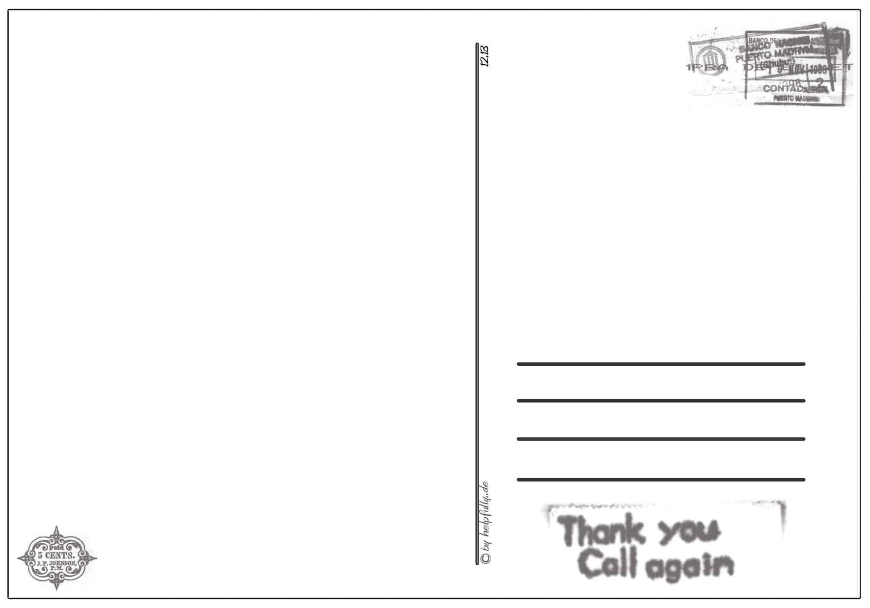 Karten, Postkarten, Einladungen| Gratis Papier-Vorlagen Zum mit Postkarten Kostenlos Drucken