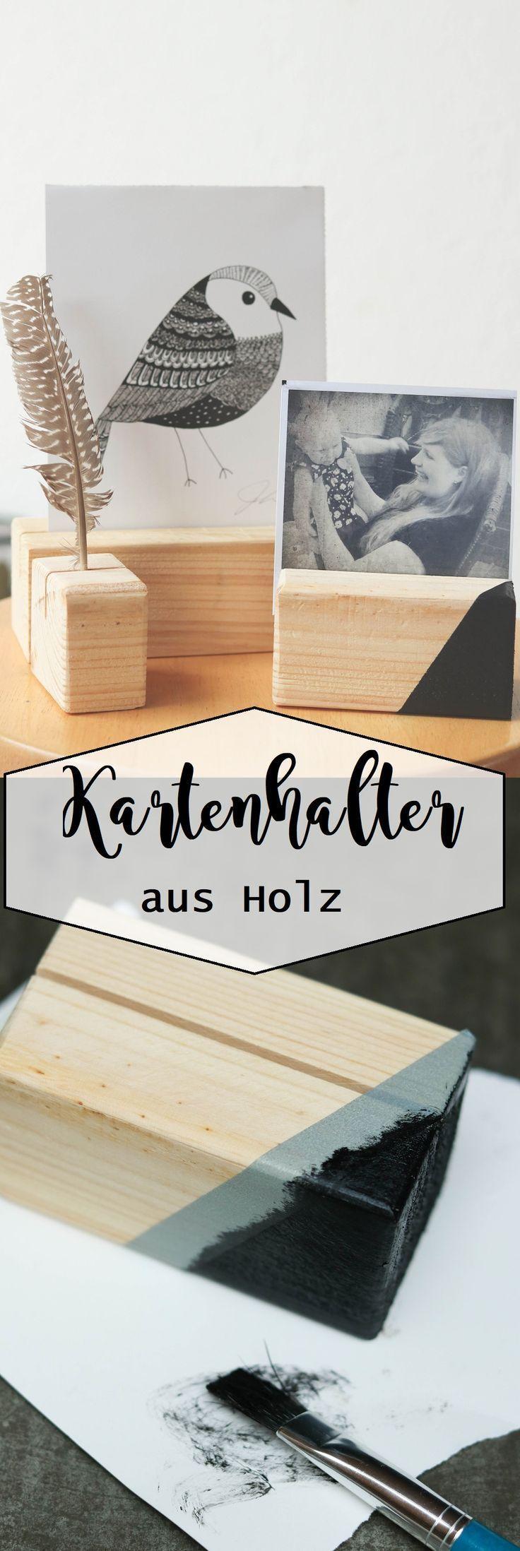 Kartenhalter Aus Holz (Mit Bildern)   Diy Sachen innen Holzarbeiten Mit Kindern Anleitungen