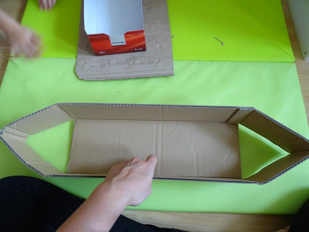 Karton-Upcycling: Wir Basteln Ein Schiff - Vlikeveronika innen Bastelvorlage Piratenschiff