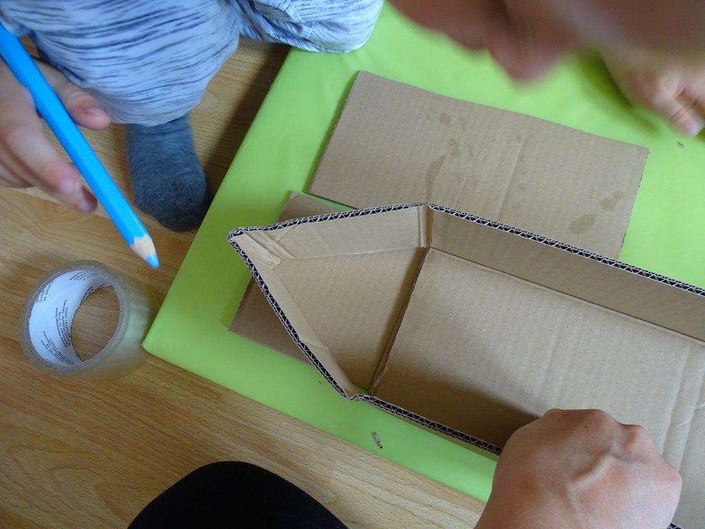Karton-Upcycling: Wir Basteln Ein Schiff - Vlikeveronika mit Bastelvorlage Schiff