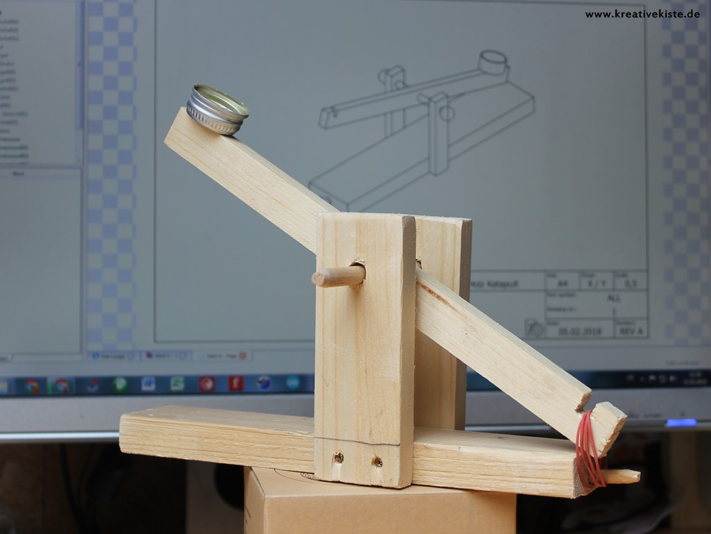 Katapult verwandt mit Holz Basteln Vorlagen