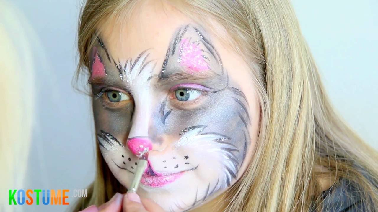 Katze Schminken - Schminkanleitung/tutorial mit Kinderschminken Katze Vorlagen