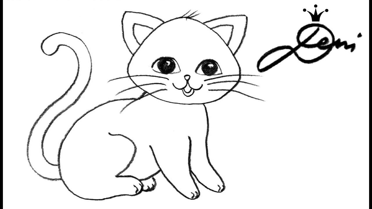 Katze Schnell Zeichnen Lernen 🐈 How To Draw A Cat For Children 🐱 Как Се  Рисува Коте Tiere Malen verwandt mit Katze Malen Einfach