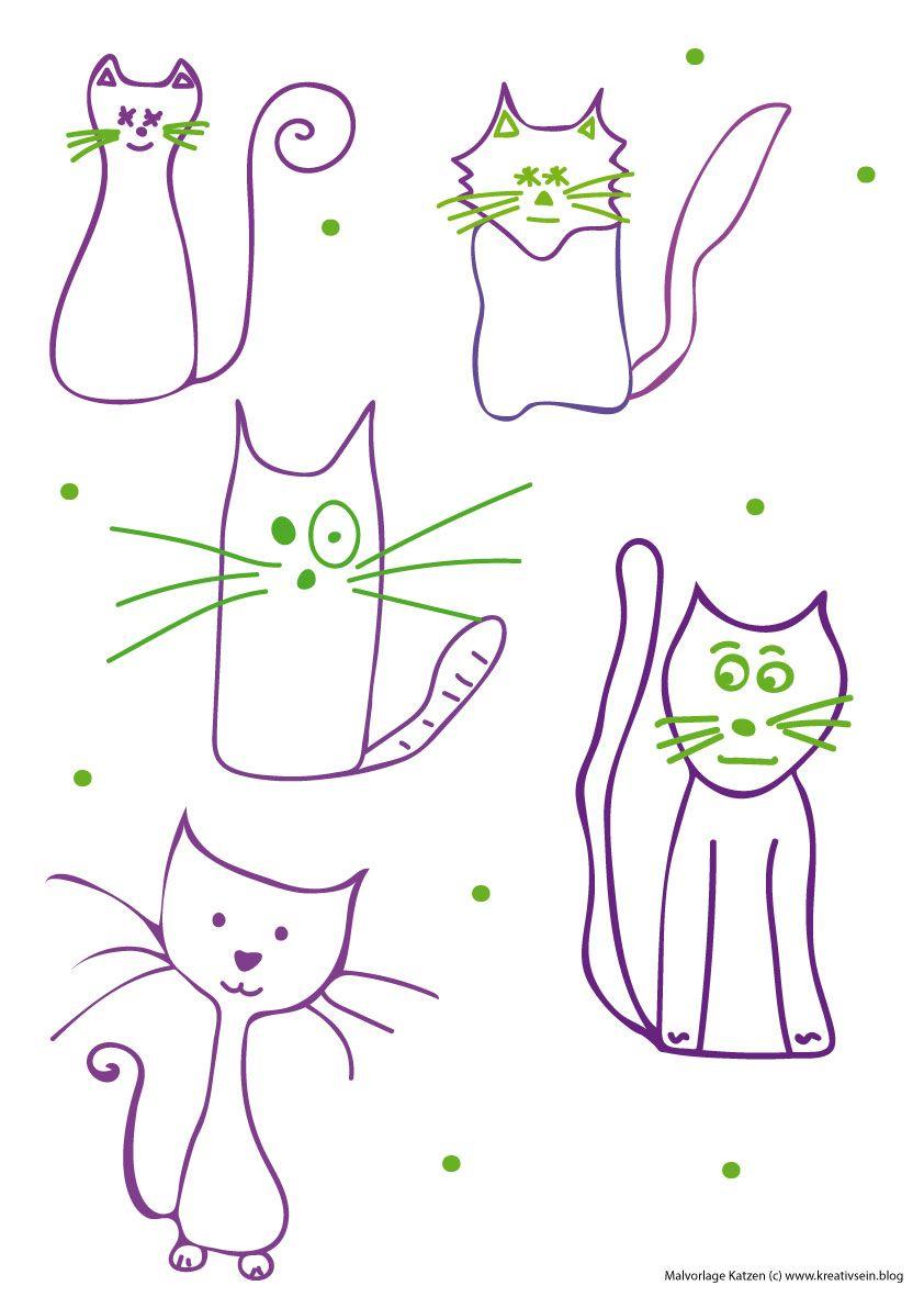Katzen Malen Leicht Gemacht – Ideen Für Kinder Und Anfänger bestimmt für Tiere Einfach Zeichnen
