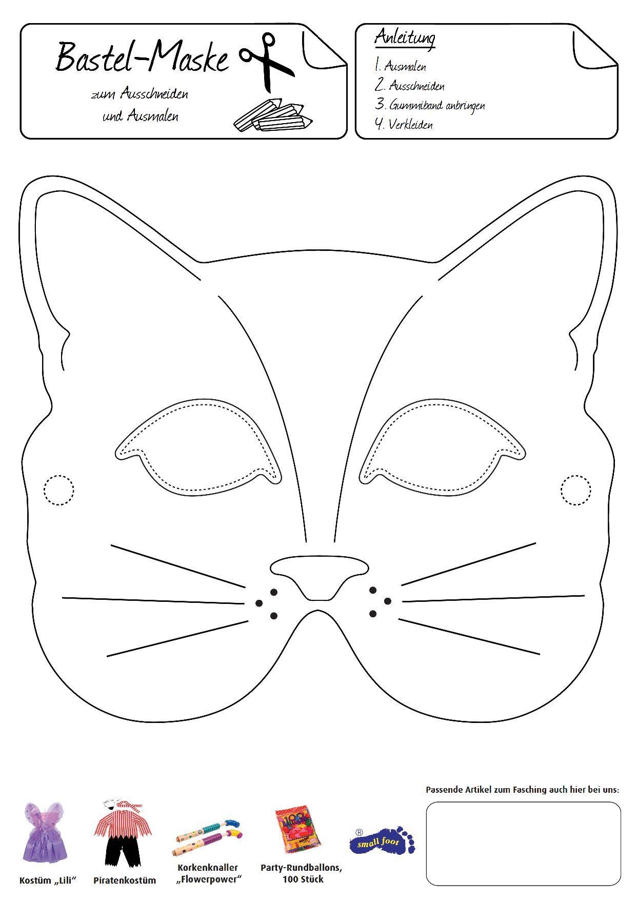 Katzenmaske. Eine Anmutige Verkleidung Gelingt Mit Dieser bei Katzenmaske Basteln