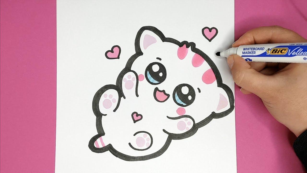 Kawaii Baby Katze Selber Malen - Kawaii Bilder bei Katzenbilder Comic