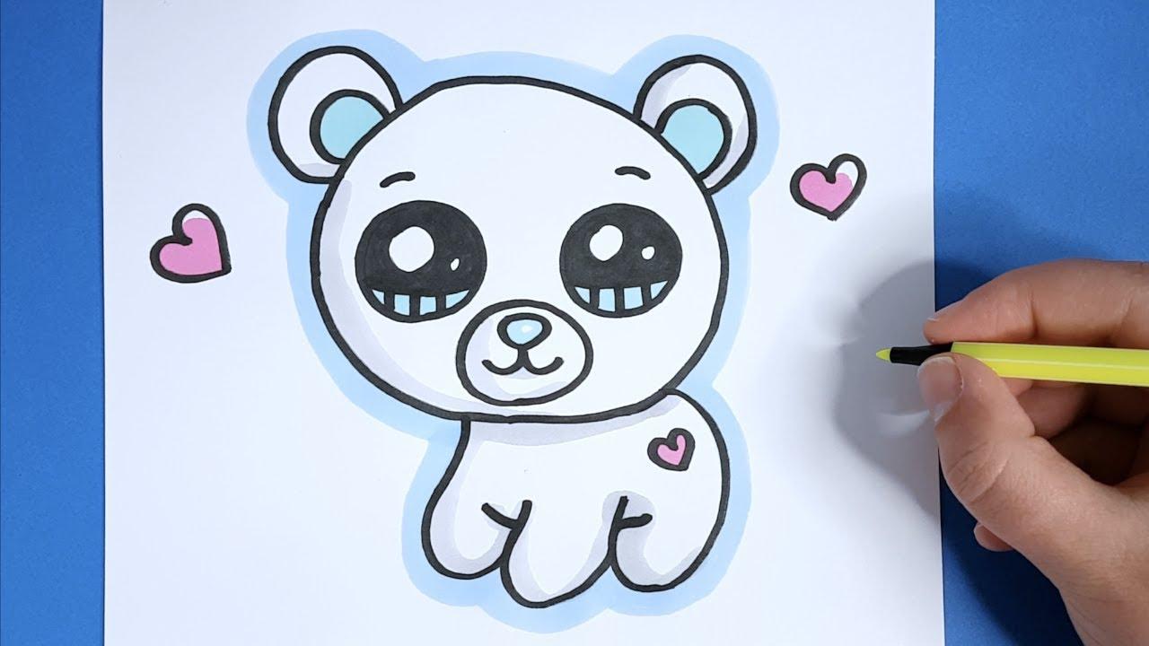 Kawaii Eisbär Malen - Kawaii Bilder Zum Nachmalen verwandt mit Schöne Bilder Zum Nachzeichnen