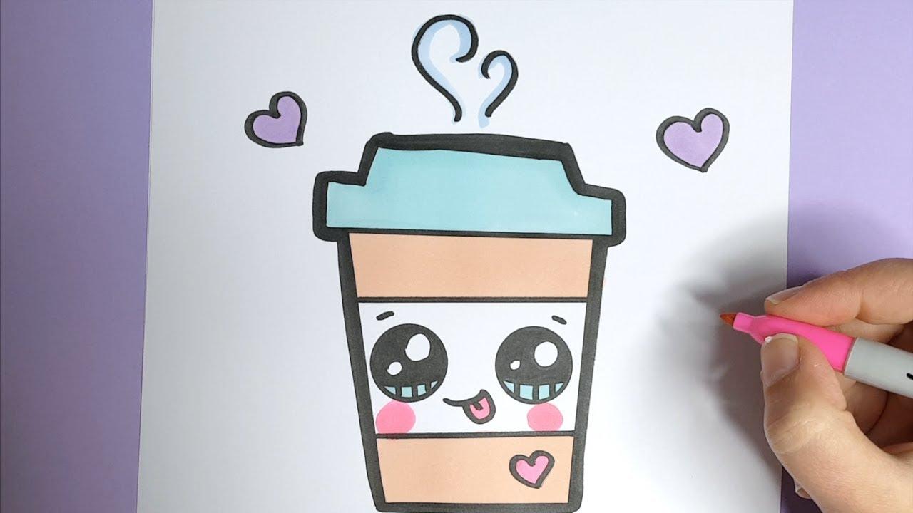Kawaii Kaffee Getränk Malen- Kawaii Bilder Zum Nachmalen verwandt mit Bilder Zum Nachmalen