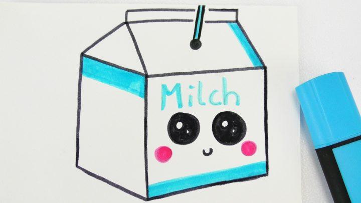 Kawaii Milk Diy | Niedliches Milch Getränk Zeichnen | How To Draw Tutorial verwandt mit Süße Bilder Zum Zeichnen
