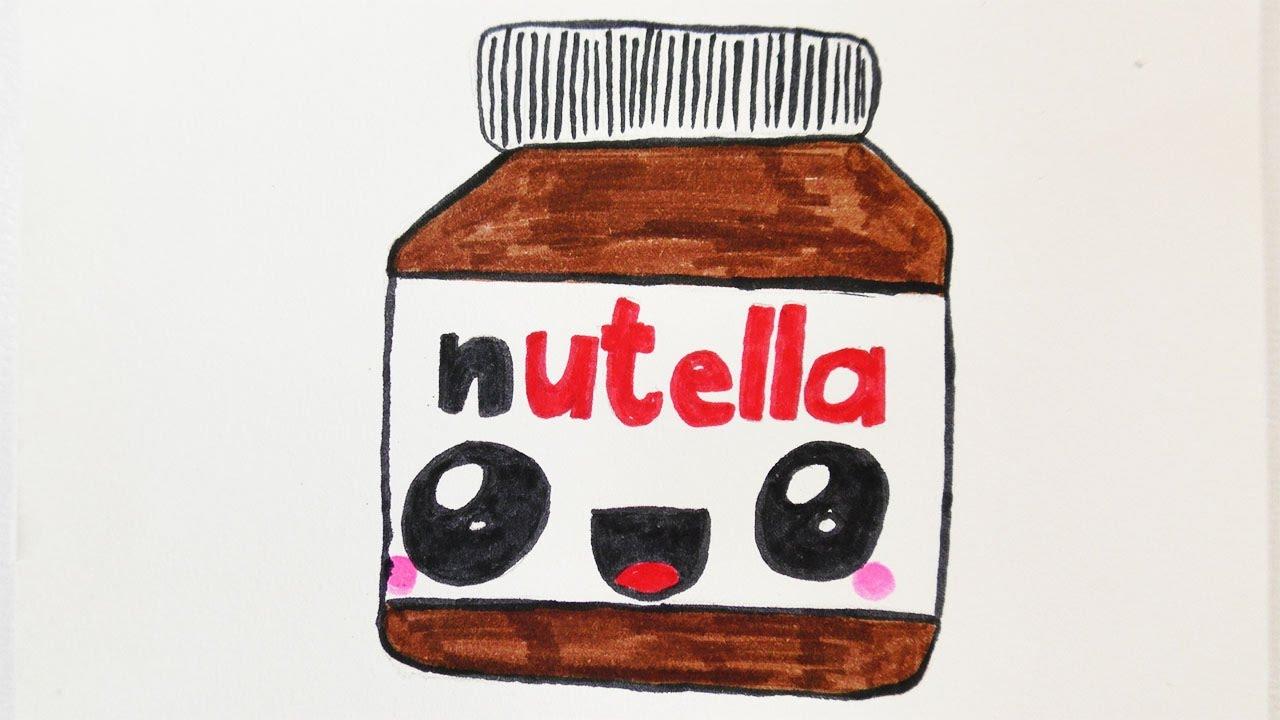 Kawaii Nutella Diy Zeichnen | Süße Schoko Creme Malen Für Einladungen Und  Geburtstagskarten für Süße Bilder Zum Zeichnen