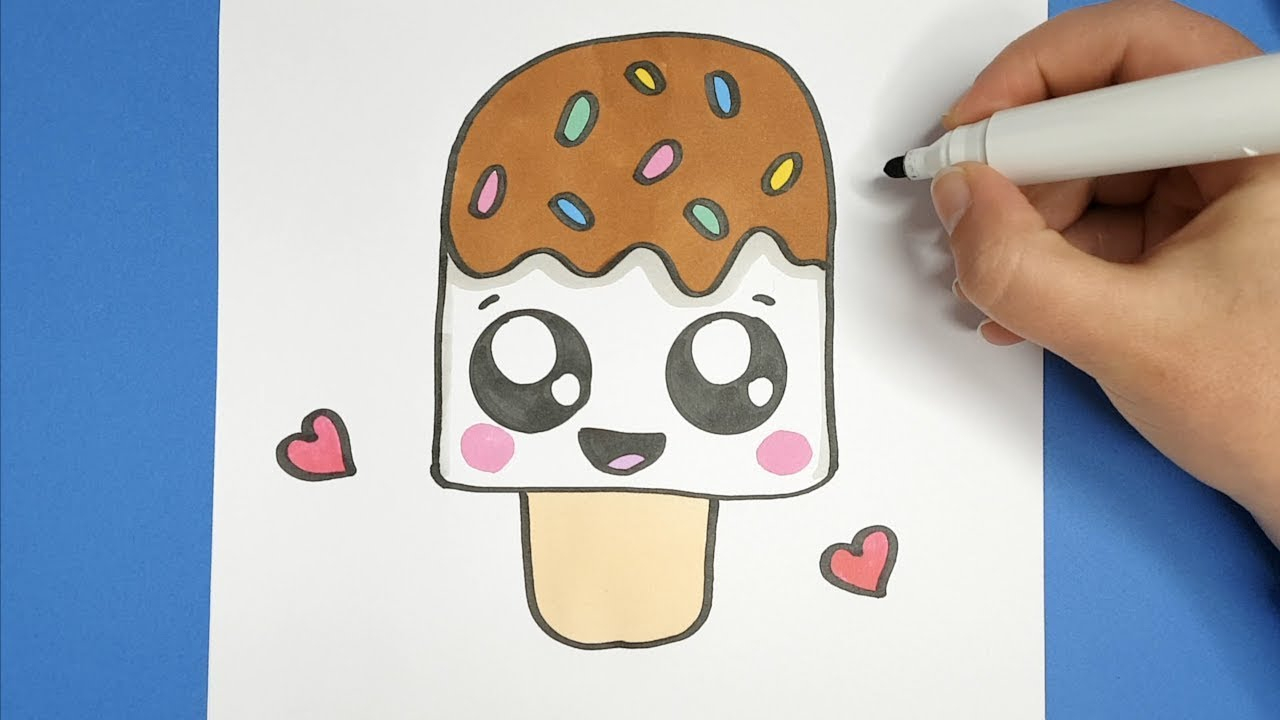Kawaii Schokolade Eis Selber Malen - Kawaii Bilder ganzes Kinderbilder Malen