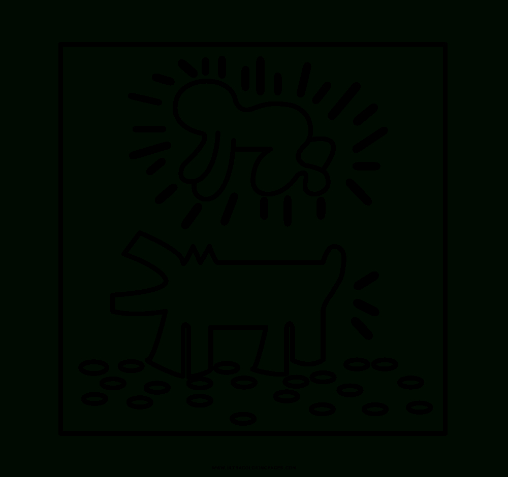Keith Haring Ausmalbilder - Ultra Coloring Pages ganzes Keith Haring Malvorlagen