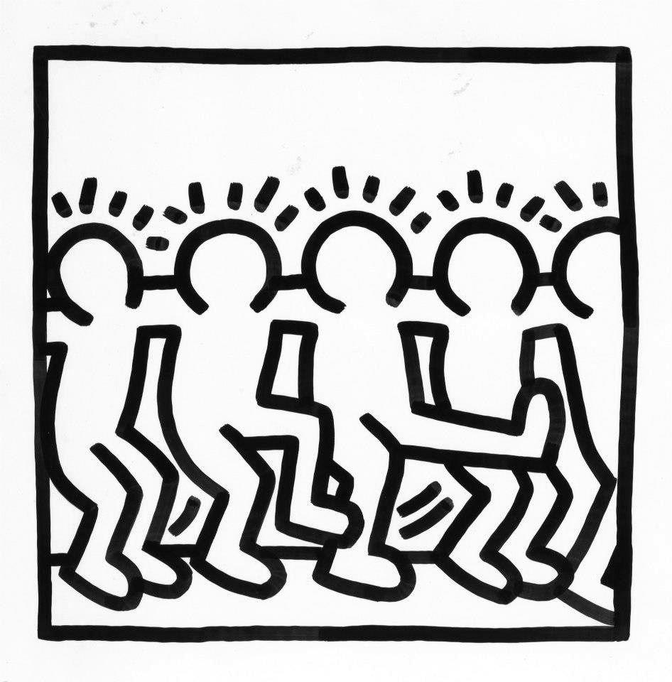 Keith Haring (Mit Bildern)   Kunst Für Kinder, Kunst mit Keith Haring Malvorlagen
