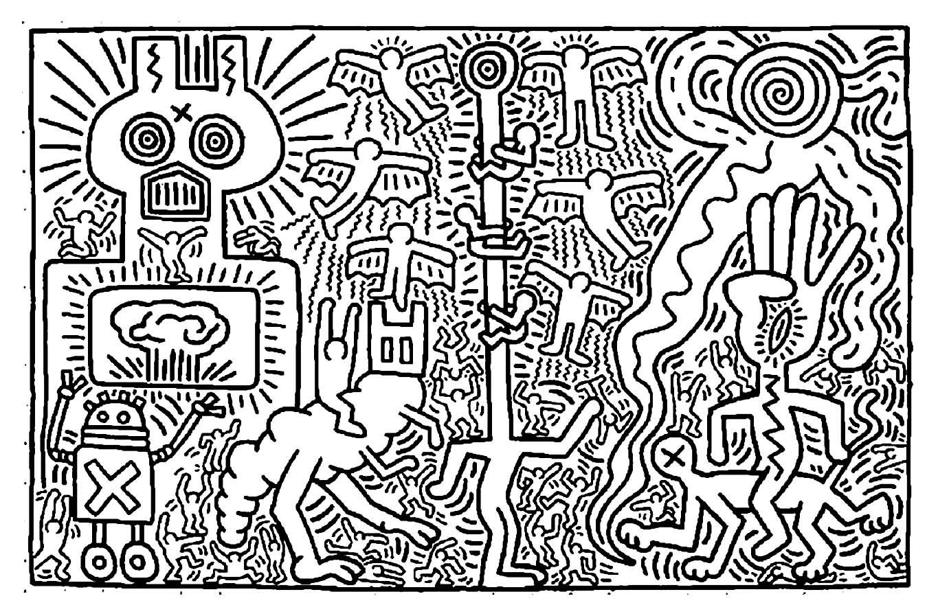 Keith Haring To Color For Kids - Keith Haring Coloring Pages über Keith Haring Malvorlagen