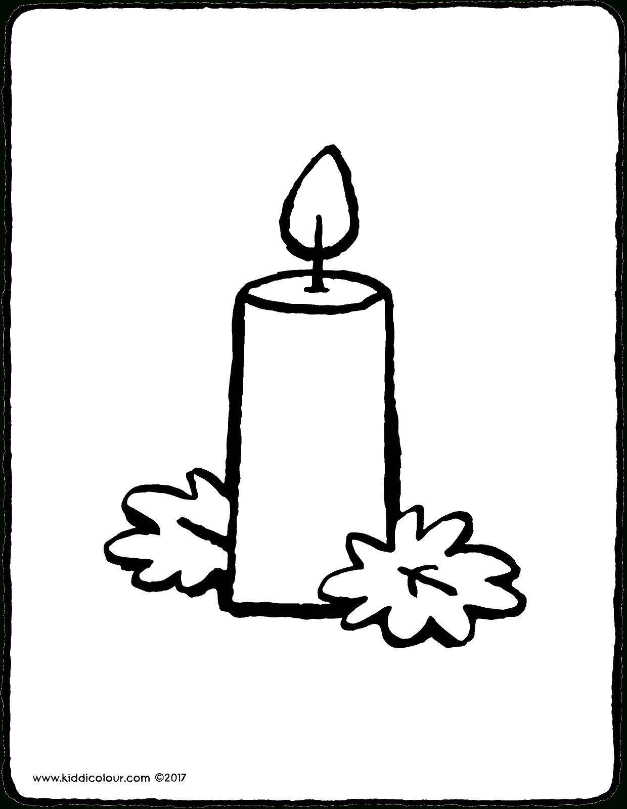 Kerze - Kiddimalseite innen Kerzen Ausmalbilder