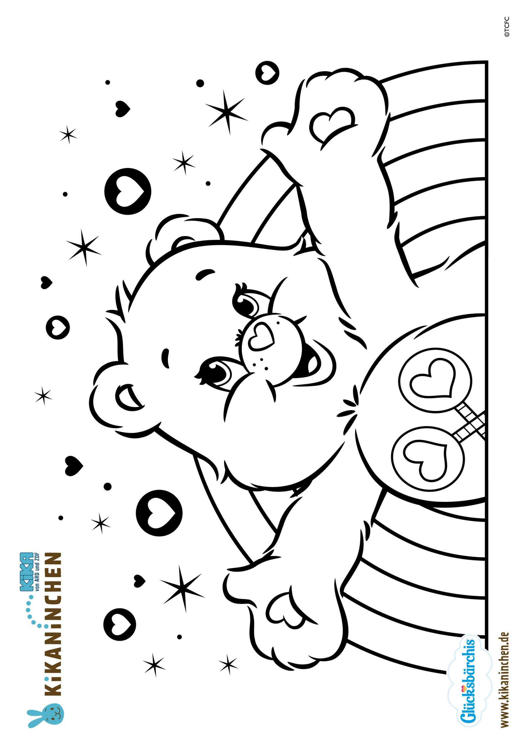 Kika - Ausmalbild Herunterladen für Glücksbärchis Malvorlagen