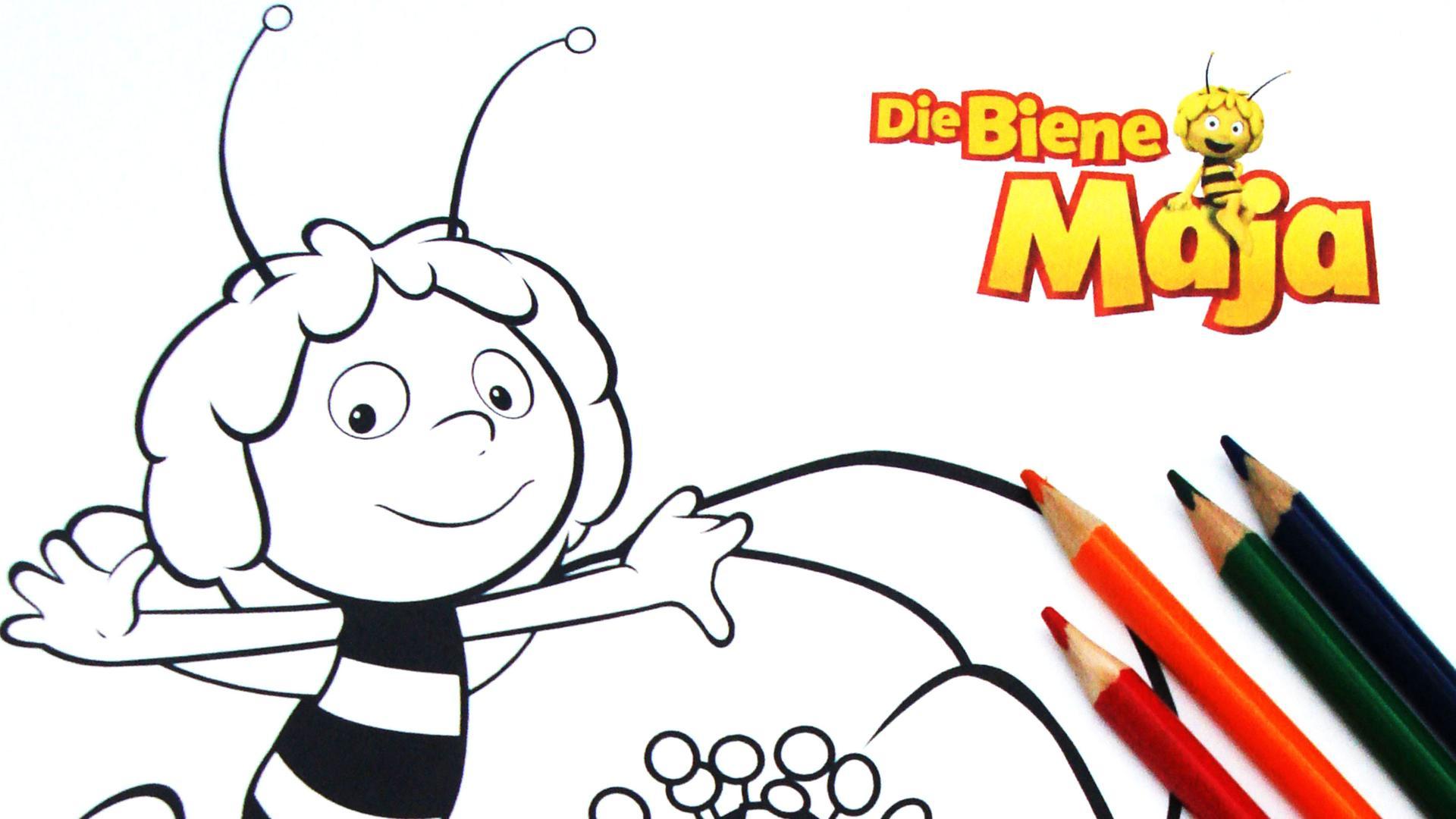 Kika - Ausmalbilder Biene Maja für Biene Maja Willi Malvorlage