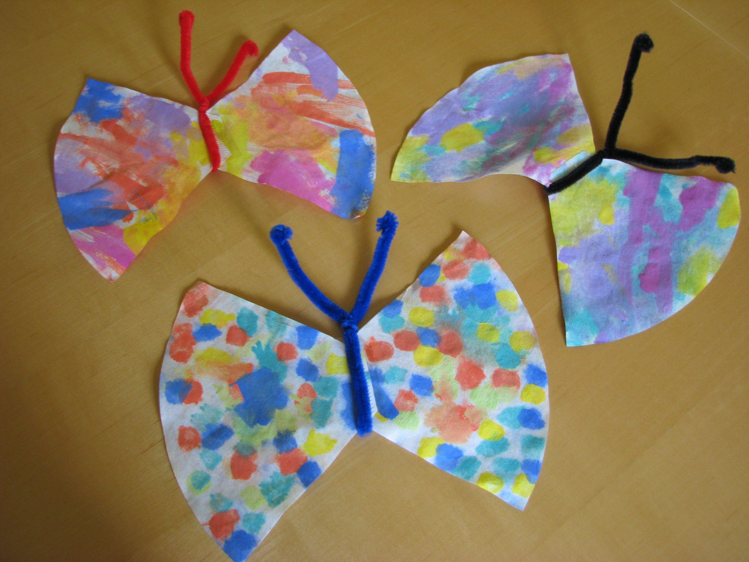 Kinder Basteln Schmetterlinge (Mit Bildern) | Basteln in Bastelarbeiten Für Kindergartenkinder