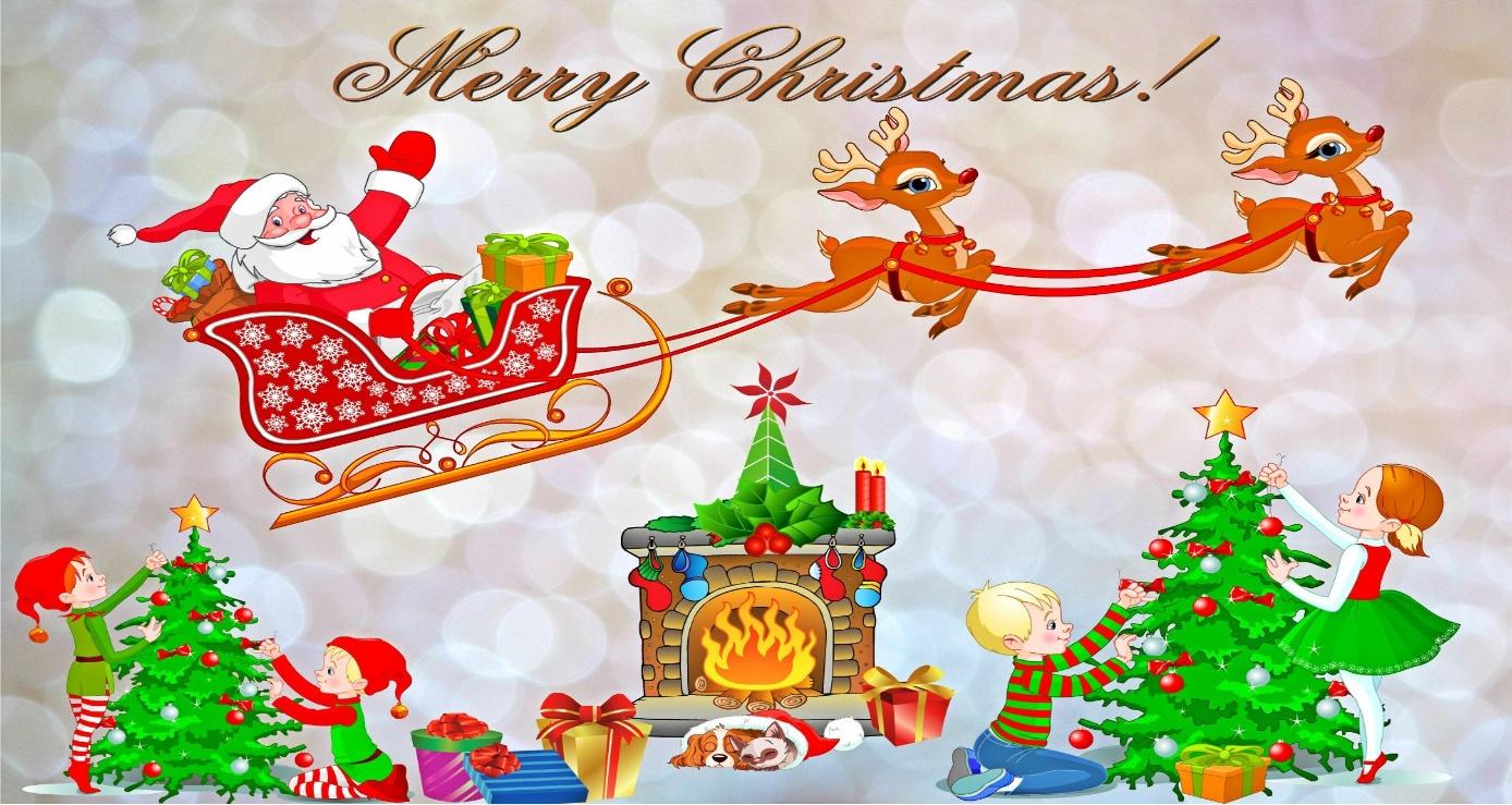 Kinder Feier Weihnachten für Weihnachtskarte Für Kinder