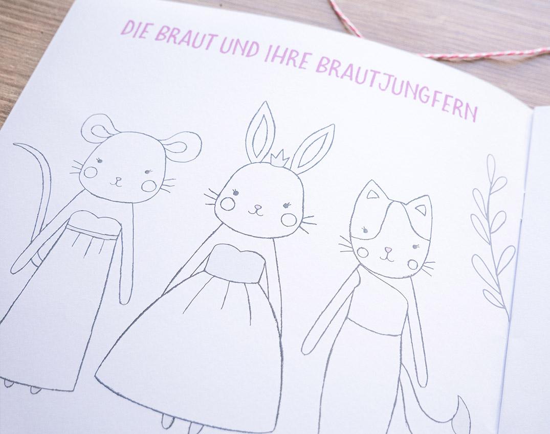 Kinder-Hochzeitsbuch Zum Malen Und Rätseln | 21 X 21 Cm bestimmt für Malbuch Hochzeit