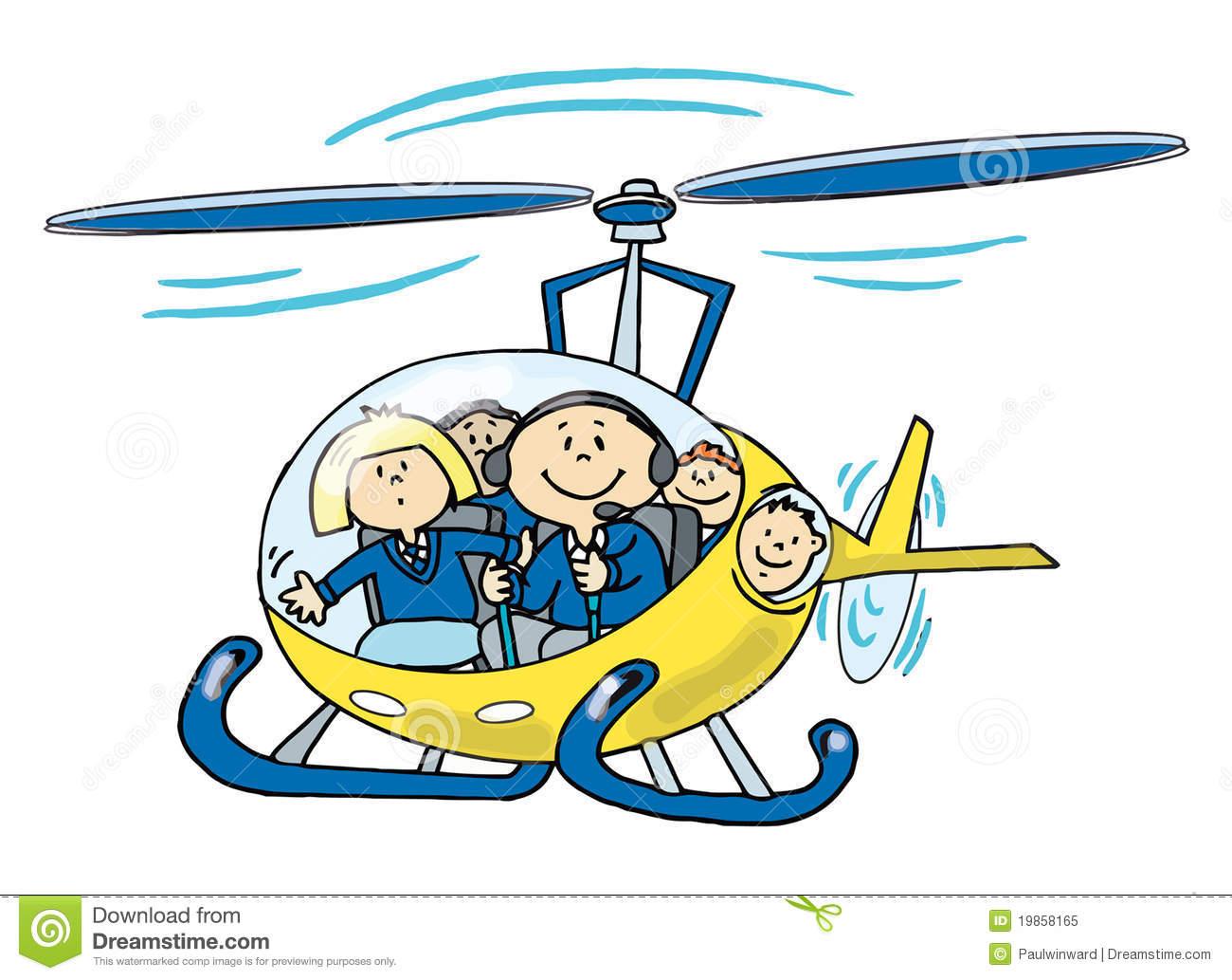 Kinder In Einem Hubschrauber Vektor Abbildung - Illustration über Hubschrauber Für Kinder