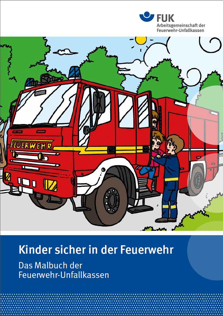 Kinder Sicher In Der Feuerwehr: Malbuch Der Feuerwehr für Malbuch Feuerwehr