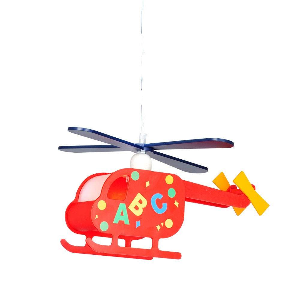 Kinder Spiel Zimmer Decken Hänge Lampe Hubschrauber Pendel Leuchte  Helikopter Bunt Inkl Smd-Led Leuchtmittel bei Hubschrauber Für Kinder