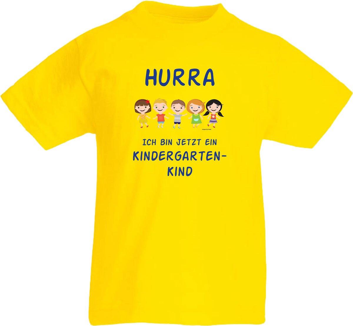 Kinder T-Shirt Hurra Kindergartenkind - Konzept-Werbeartikel bestimmt für T-Shirt Kindergartenkind