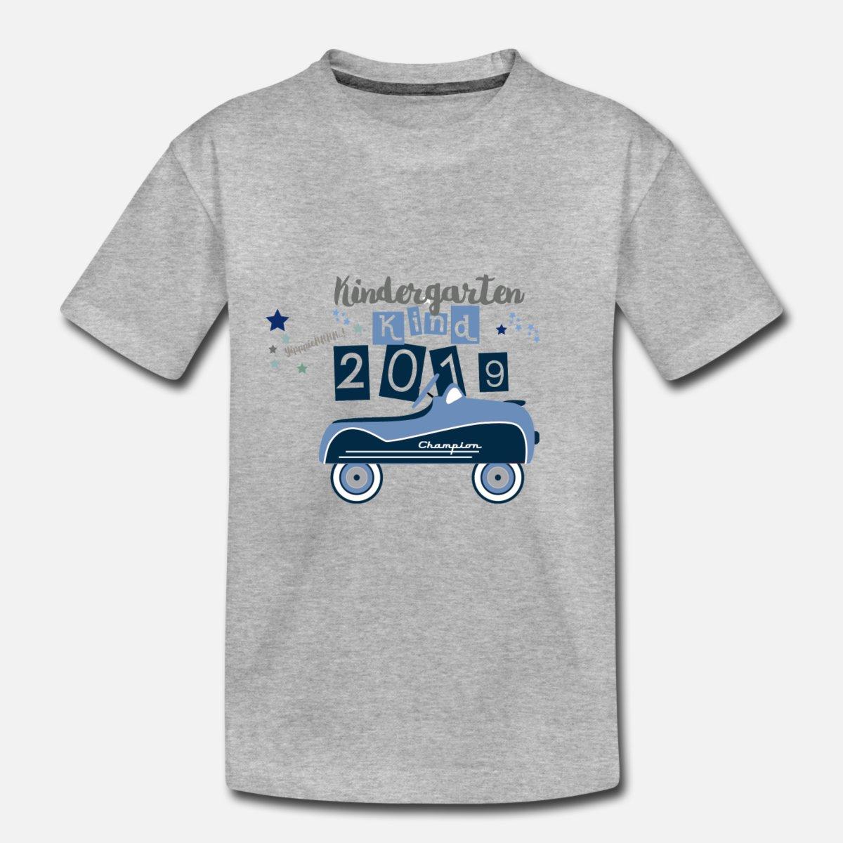Kindergartenkind Auto Kleiner Champion Kinder Premium T-Shirt - Grau Meliert in T-Shirt Kindergartenkind