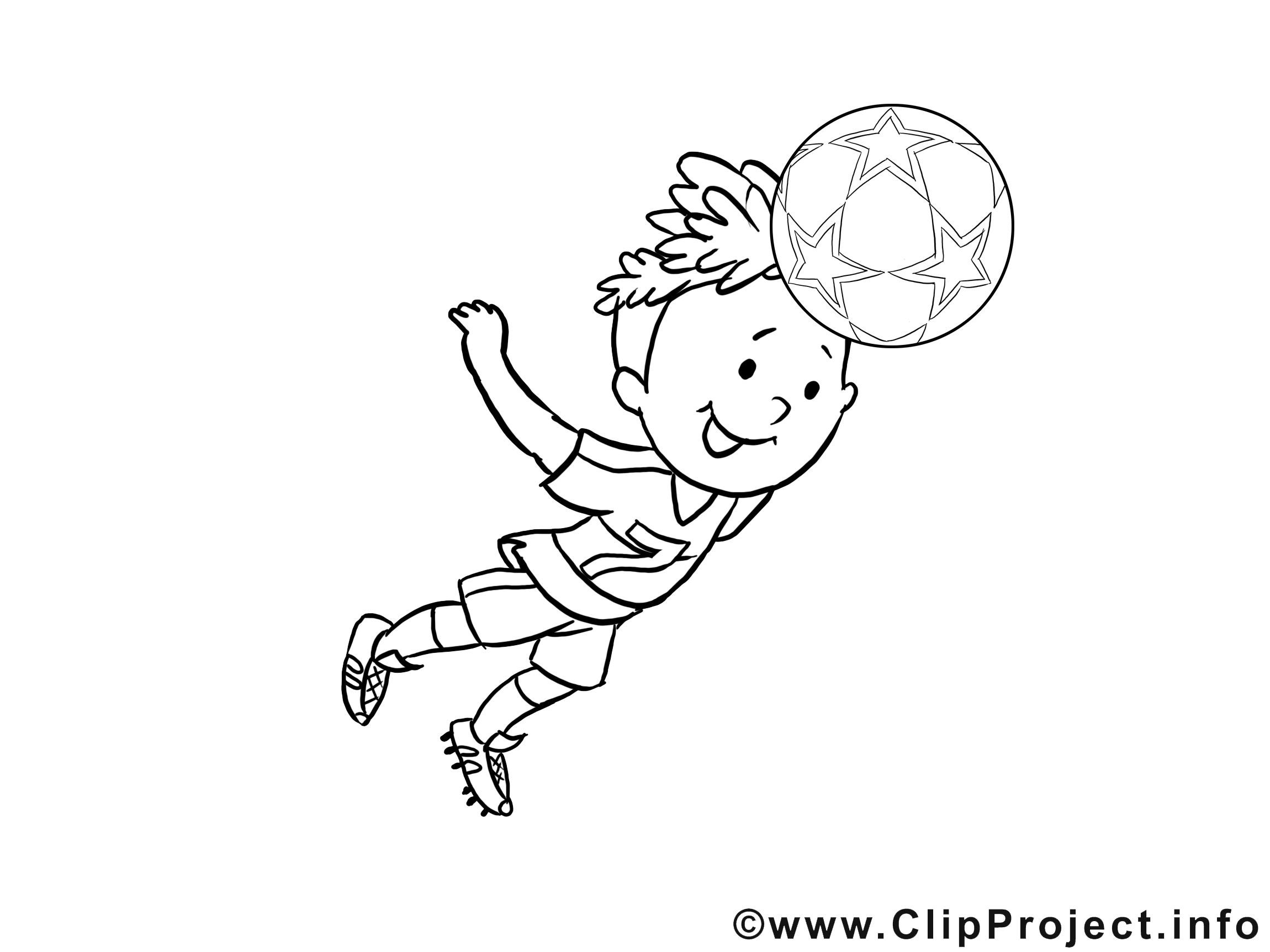 Kindermalvorlage Kind Spielt Fussball bei Kindermalvorlage