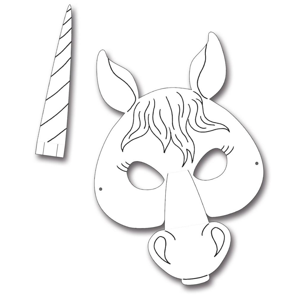 Kindermasken Pferd 6Er Pack verwandt mit Kindermasken Basteln