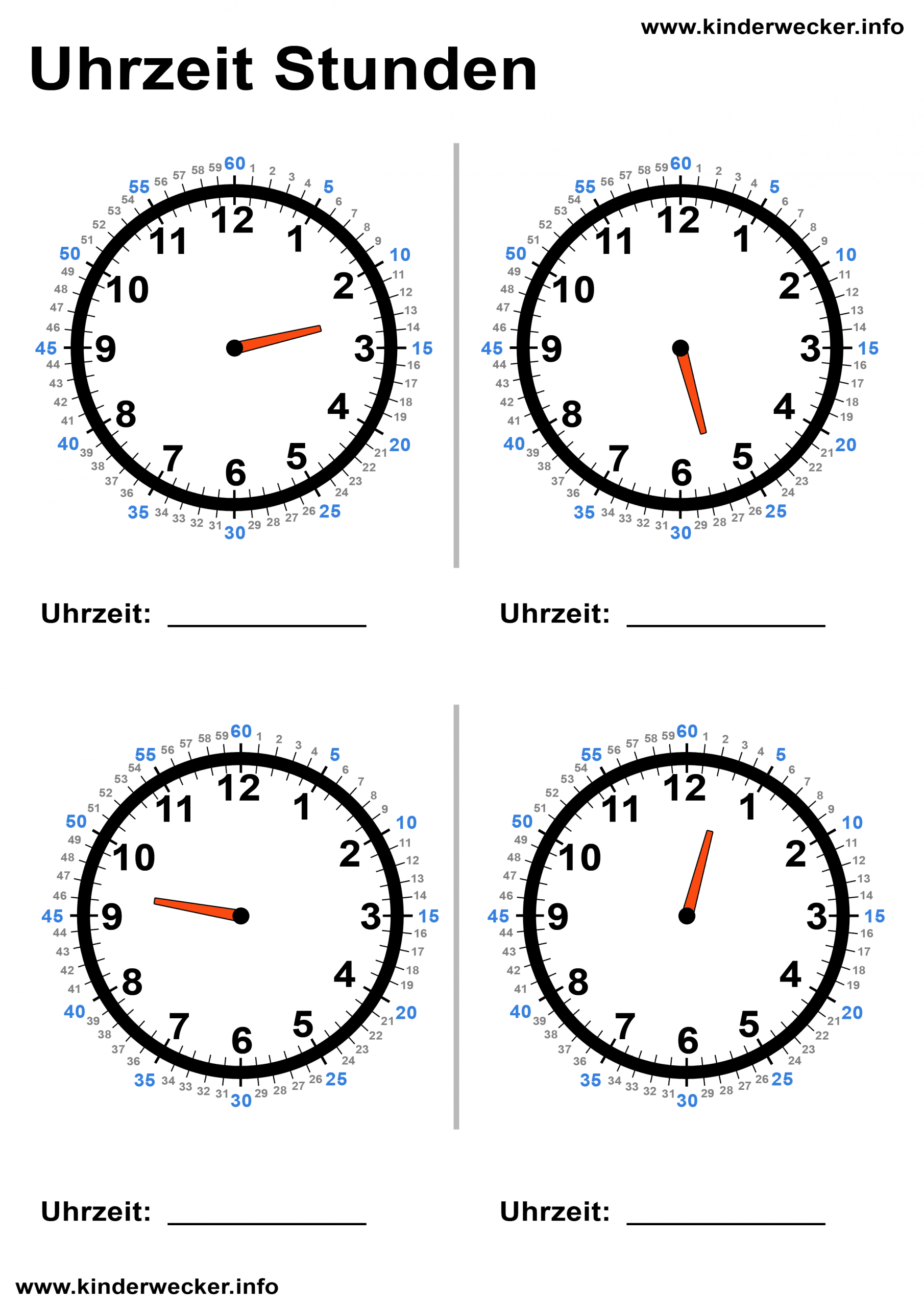 Kindern Uhren Lesen Beibringen - Lernuhr Basteln | Kinderwecker in Uhr Zum Ausdrucken