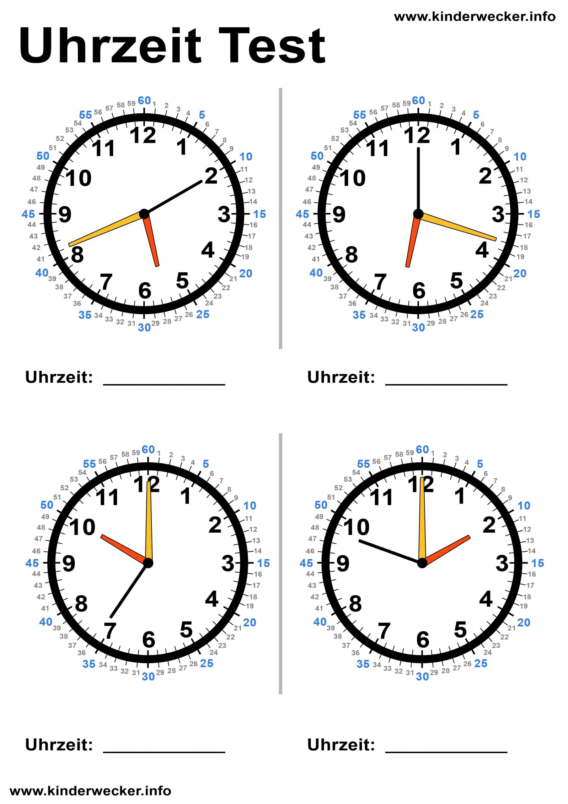Kindern Uhren Lesen Beibringen - Lernuhr Basteln | Kinderwecker mit Uhr Zum Ausdrucken