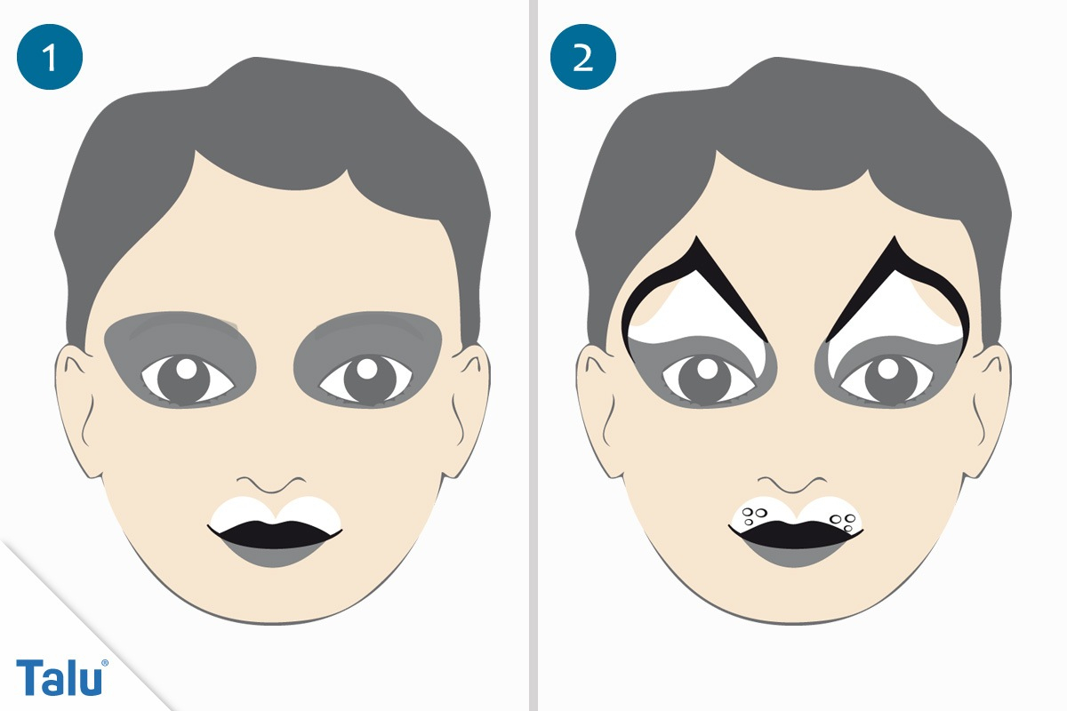 Kinderschminken - Anleitung & Vorlagen Zum Ausdrucken Von mit Schminkvorlagen Kinderschminken Zum Ausdrucken