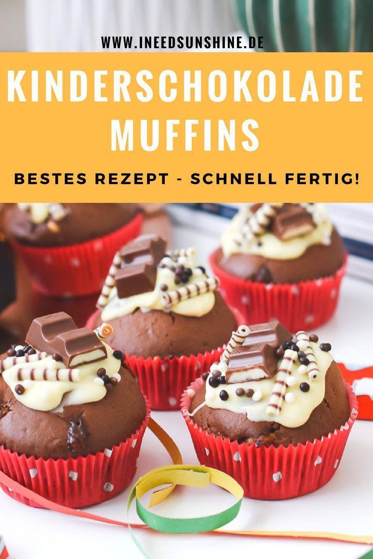 Kinderschokolade Muffins, Torte & Mehr Für Kindergeburtstag ganzes Muffin Rezept Kindergeburtstag Einfach