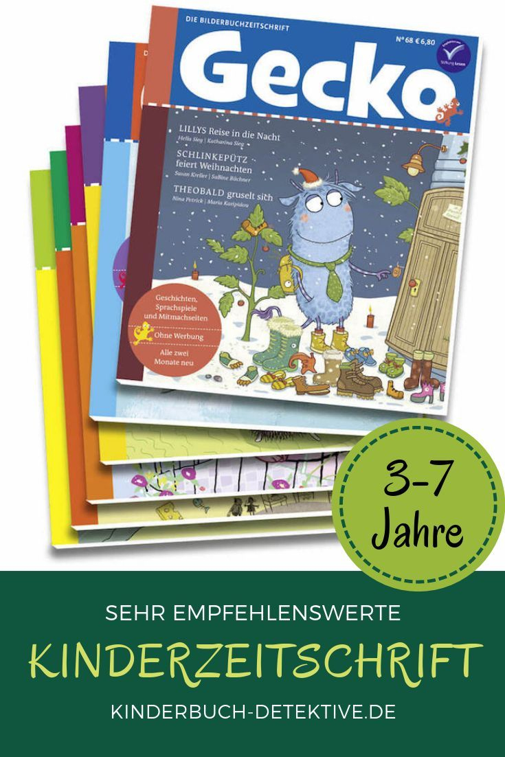 Kinderzeitschrift Gecko   Kinderbücher, Zeitschriften Für mit Zeitschriften Für Kindergartenkinder