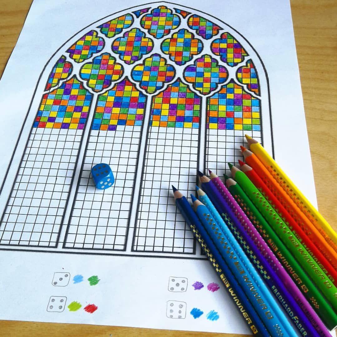 Kirchenfenster Nach Gerhard Richter #farbenwürfeln über Kirchenfenster Malvorlage
