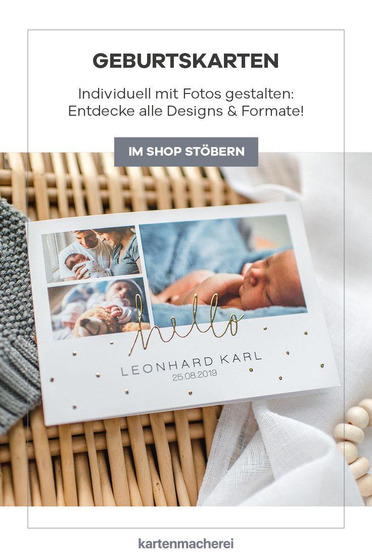 Klassische Und Moderne Designs In Vielen Farben Und Formaten bei Geburtskarte Kostenlos