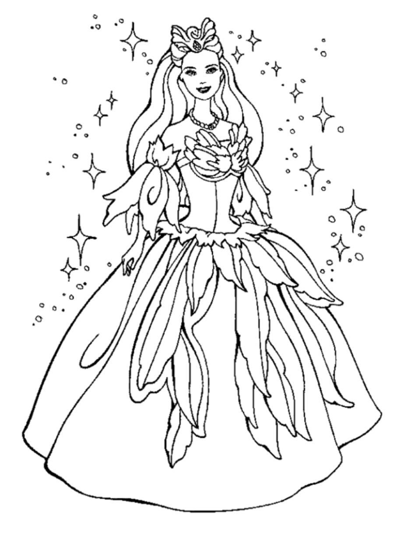 Kleid: Ausmalbilder Prinzessin bestimmt für Gratis Malvorlagen Prinzessin Lillifee